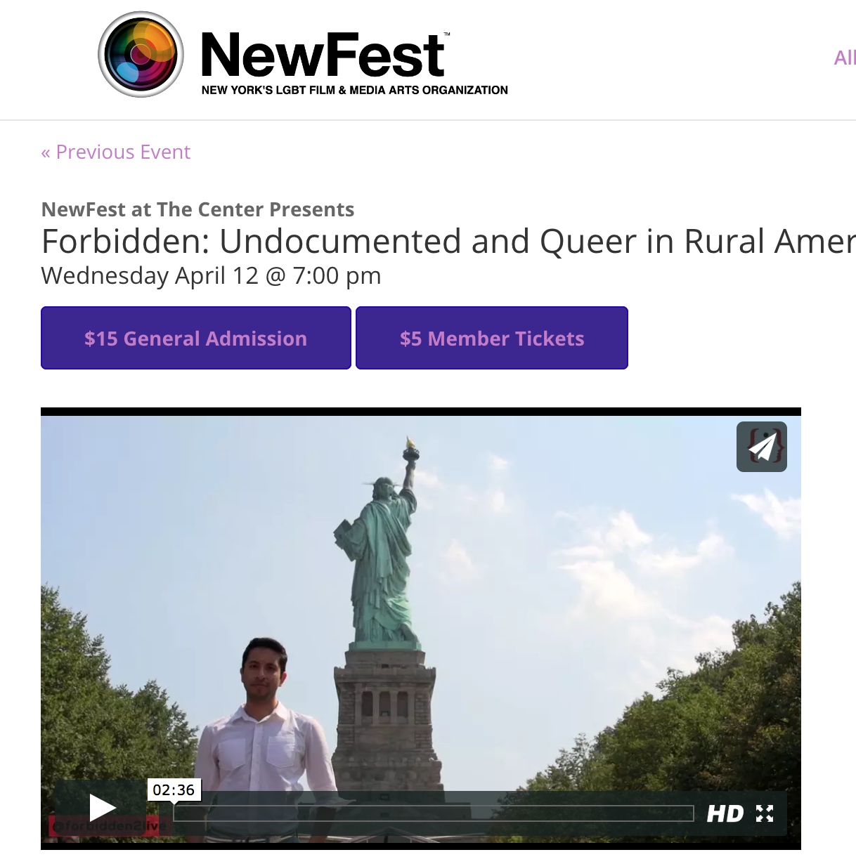 Newfest at The Center